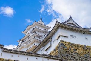 青空と姫路城の写真素材 [FYI04679707]