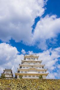 青空と姫路城の写真素材 [FYI04679711]