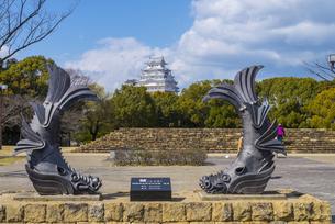 姫路城としゃちの写真素材 [FYI04679727]