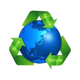 3R(recycle,reuse,reduce)・リサイクル・エコロジーイメージマークのイラスト素材 [FYI04679926]