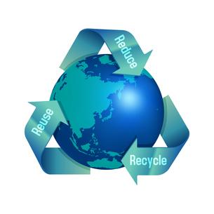3R(recycle,reuse,reduce)・リサイクル・エコロジーイメージマークのイラスト素材 [FYI04679927]