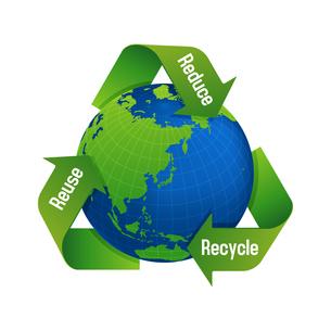 3R(recycle,reuse,reduce)・リサイクル・エコロジーイメージマークのイラスト素材 [FYI04679928]