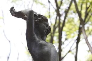 宮城県 新緑の定禅寺通 夏の思い出像の写真素材 [FYI04680088]