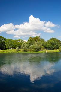 夏の水前寺江津湖公園の写真素材 [FYI04680338]