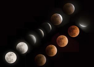 ブルームーンの月食の写真素材 [FYI04680602]