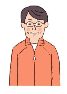 メガネをかけた中年男性 上半身のイラスト素材 [FYI04681094]