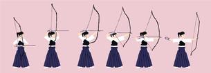 弓道の動作のイラスト素材 [FYI04681118]