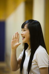 応援する女の子の写真素材 [FYI04681497]