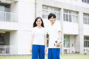 体操着の男女の学生の写真素材 [FYI04681512]