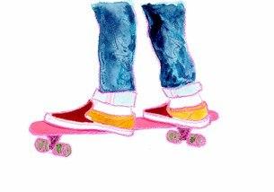 スケートボードのイラスト素材 [FYI04681729]