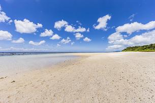 川平湾隣に位置する静かな吉原海岸の写真素材 [FYI04682241]