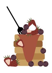甘そうなホットケーキのイラストのイラスト素材 [FYI04682320]