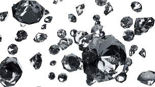 Diamonds on white background. 3d illustration for background.のイラスト素材 [FYI04682330]