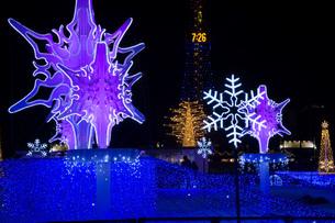 イルミネーションに飾られた冬の街の写真素材 [FYI04682465]