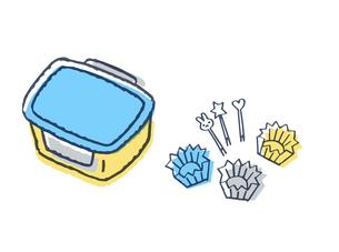 お弁当箱とおかずカップ のイラスト素材 [FYI04682499]