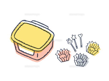 お弁当箱とおかずカップ のイラスト素材 [FYI04682500]