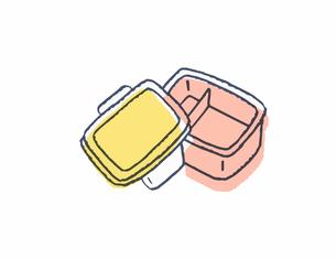 蓋の開いたお弁当箱 のイラスト素材 [FYI04682502]