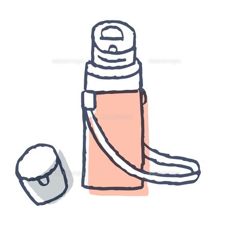 キャップの開いた水筒のイラスト素材 [FYI04682506]