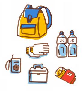 防災用品 非常持出袋のイラスト素材 [FYI04682539]