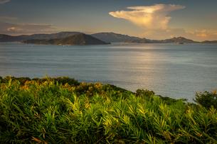 【香川県 さぬき市】大串自然公園から見る瀬戸内海の自然風景の写真素材 [FYI04682654]