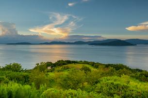 【香川県 さぬき市】大串自然公園から見る瀬戸内海の自然風景の写真素材 [FYI04682655]