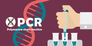 PCR検査 バナーイラスト / 新型コロナウイルス , Covid-19のイラスト素材 [FYI04682739]