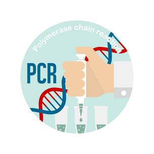 PCR検査 円形バナーイラスト / 新型コロナウイルス , Covid-19のイラスト素材 [FYI04682744]