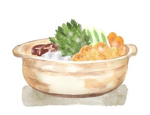 鍋料理 水彩イラストのイラスト素材 [FYI04682845]