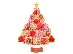 プレゼントのクリスマスツリーの写真素材 [FYI04682909]