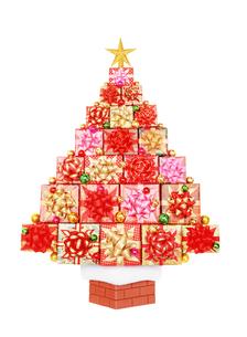 プレゼントのクリスマスツリーの写真素材 [FYI04682910]