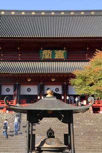 秋の日光山輪王寺 建物は三仏堂 世界文化遺産 輪王寺の写真素材 [FYI04683060]