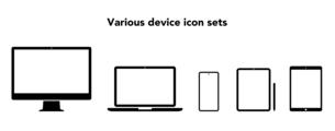 デバイス各種 コンピューターのアイコンのイラスト素材 [FYI04683391]