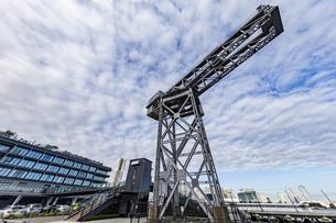 新港ふ頭に立つ産業遺産「ハンマーヘッドクレーン」の写真素材 [FYI04683973]