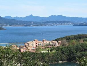 飯盛山と大村湾の写真素材 [FYI04684162]