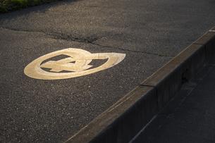 道路に記される文のマークの写真素材 [FYI04684203]