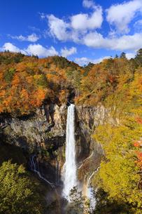 紅葉の華厳の滝の写真素材 [FYI04684346]