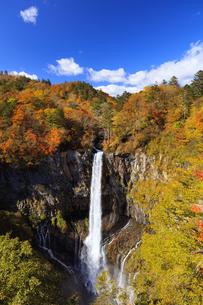 紅葉の華厳の滝の写真素材 [FYI04684349]