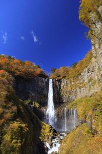紅葉の華厳の滝の写真素材 [FYI04684352]