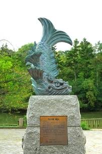 亀山城の復元鯱瓦の写真素材 [FYI04684815]