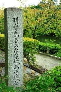 明智光秀公築城亀山城趾の石碑の写真素材 [FYI04684817]