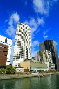 堂島川と大阪高層ビル群の写真素材 [FYI04684901]