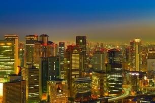 大阪の都市風景・夜景の写真素材 [FYI04684916]