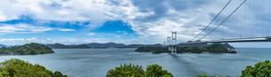 しまなみ海道 来島海峡大橋パノラマの写真素材 [FYI04685142]