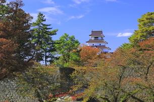 秋の会津若松城の写真素材 [FYI04685664]