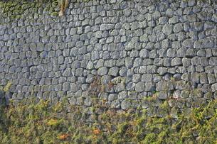 会津若松城の城壁の写真素材 [FYI04685667]