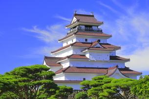 会津若松城の天守の写真素材 [FYI04685673]