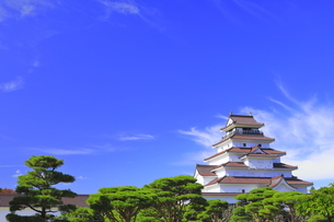 会津若松城の天守の写真素材 [FYI04685676]