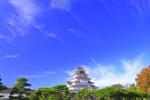 会津若松城の天守の写真素材 [FYI04685679]