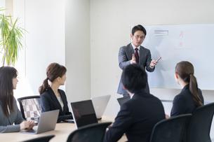 日本人ビジネスマンとビジネスウーマンの写真素材 [FYI04689376]