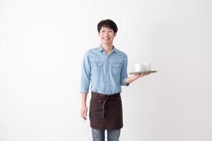 カフェ店員の写真素材 [FYI04700044]